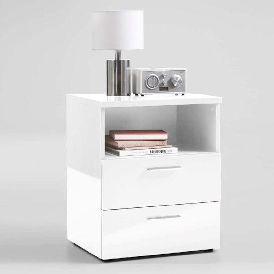 Modern Bedside Table White