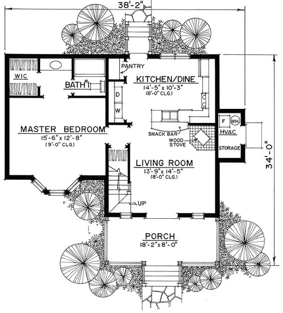 Pinterest the world s catalog of ideas for Narrow cottage house plans