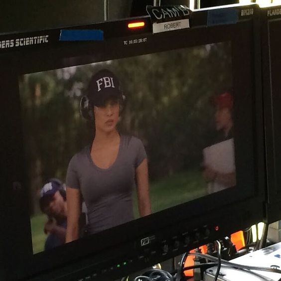"""""""Ready… Aim… Fire! I got my FBI Face on!It'sseriousstuffwhenwe'reout at the shooting rangeat#Quantico#BehindTheScenes#QuanticoTakeover…"""""""