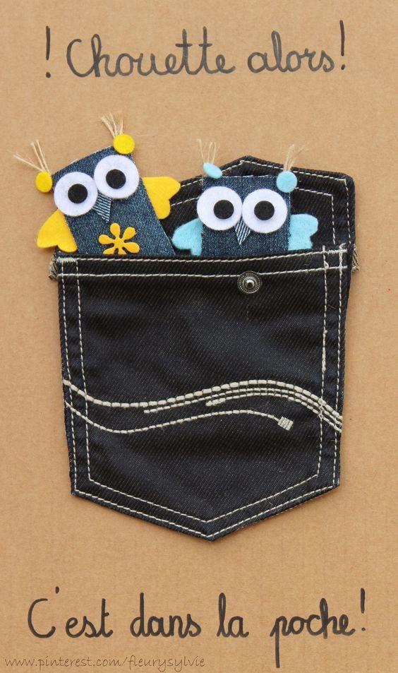 Chouette alors ! C'est dans la poche !! Recyclage des pantalons over troués de mes garçons   #recycle #jeans: