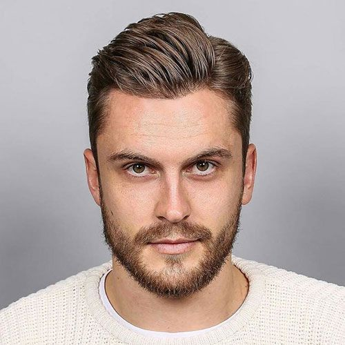 Short Side Part With Taper Mens Haircuts Short Haircut For Square Face Mens Hairstyles Short