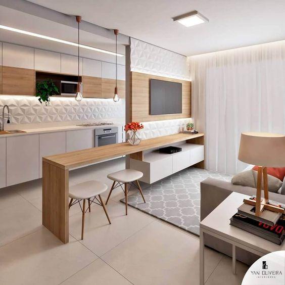 Cozinha Americana Pequena: +120 Modelos para te Inspirar em 2020