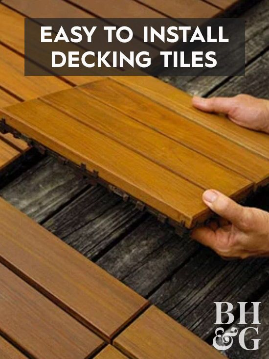 10 easy to install deck tiles to help