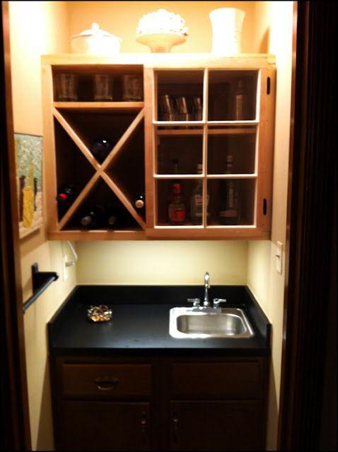 custom wet bar upper cabinet with reclaimed window door