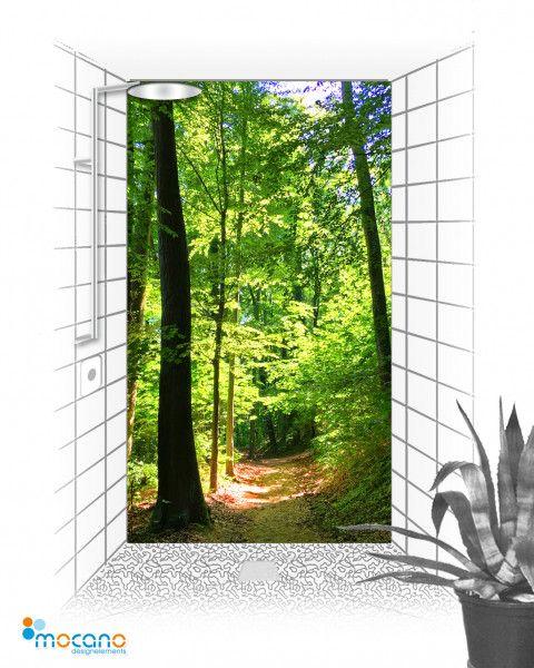 Badgestaltung Mit Fotodruck Im Duschbereich Duschruckwand Statt Wandfliese Duschruckwand Duschwand Dusche