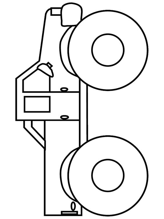 Coloring Page Truck Tailgate Down