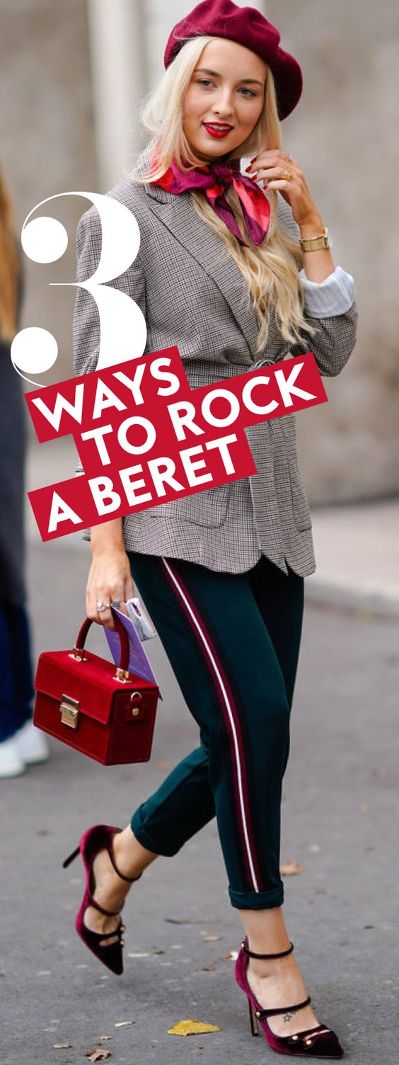 Test out the ultra-chic beret trend for less than $10. #HowtoWearaBeret #HowtoStyleaBeret