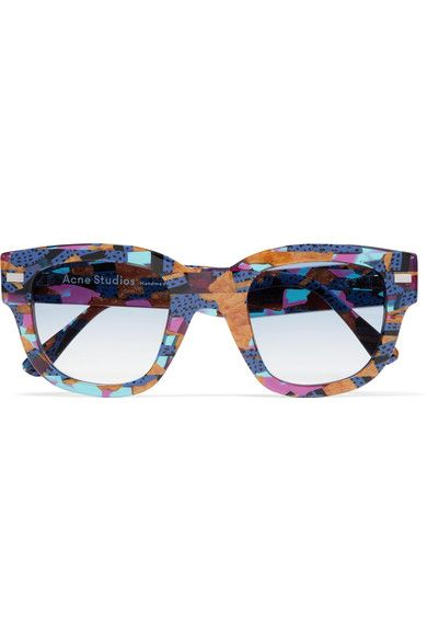 Multicolored acetate Come in a designer-stamped leather soft case 100% UV Protection Made in France