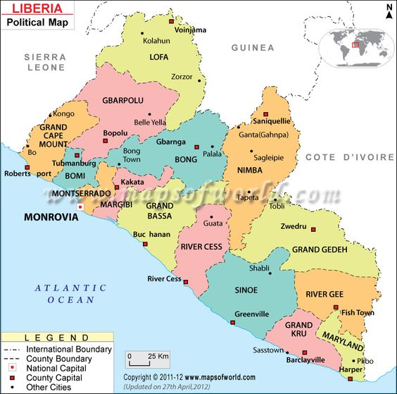 Worksheet. Political Map of Liberia  Counties httppinterestcompin