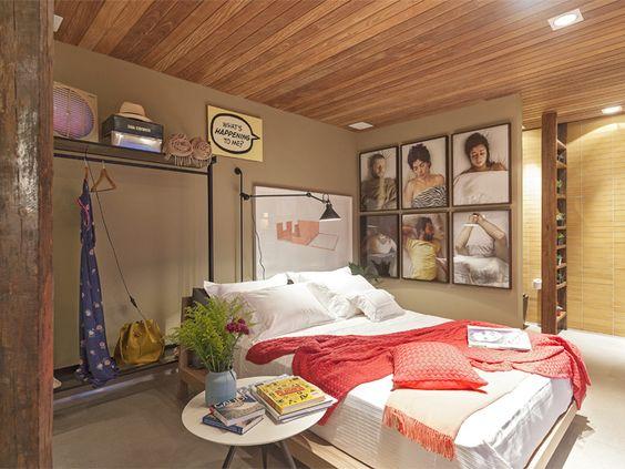 Loft Mulher Moderna - Casa Cor 2014 -  Isabela Bethônico Arquitetura. Quarto / Dream bedroom / Inspiração / Detalhes / Quadros