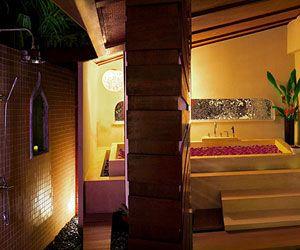 The bathroom of the suite at Prana Resorts & Spa, Koh Samui, Thailand