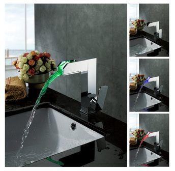 el cambio de color llevado grifo del fregadero cuarto de baño - Serie hoja http://www.grifoso.com/el-cambio-de-color-llevado-grifo-del-fregadero-cuarto-de-ba%C3%B1o-serie-hoja-p-49.html