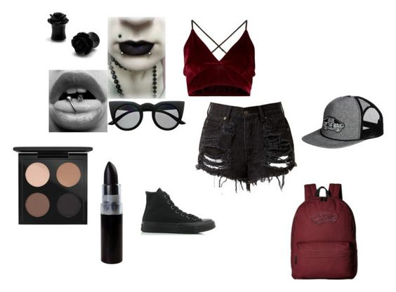 """""""Untitled #104"""" by killjoy29 ❤ liked on Polyvore featuring Converse, Retrò, MAC Cosmetics and Vans"""
