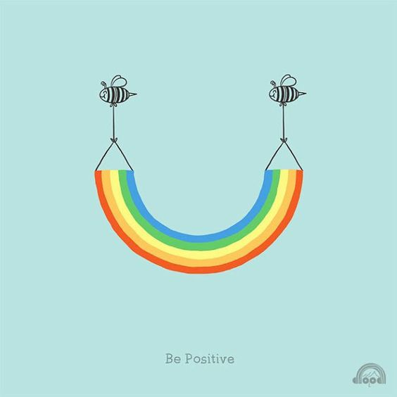 - be positive - Playfully Adorable Illustrations That Will Make You Smile - My Modern Metropolis