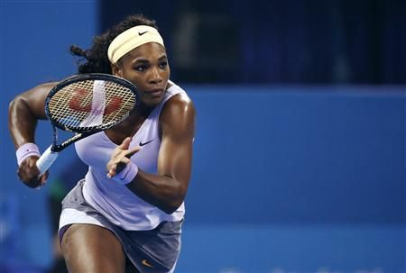 Williams of the U.S. runs to return a shot during her women's singles semi-final match against Radwanska of Poland at the China Open tennis ...