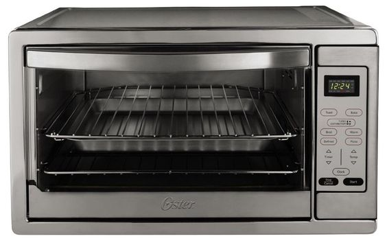 "Toaster Oven Extra Large Capacity 2 Racks 16"" Pizza BakeStainless Steel Durable  #Oster"