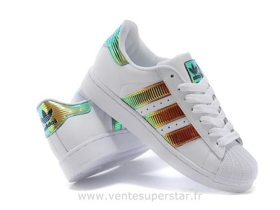 Adidas Superstar II Bling XL blanc Or