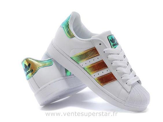 Adidas Superstar II Bling XL blanc Or