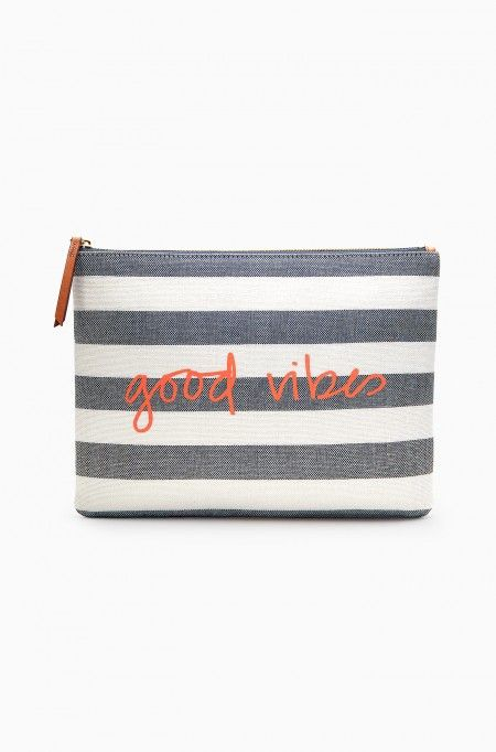 Good Vibes Striped All In Pouch | Stella & Dot: