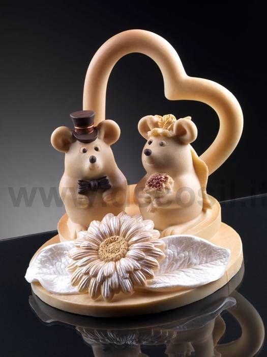 Stampo per realizzare topolini in cioccolato per decorare torte per matrimonio. www.decosil.it #weddingcake