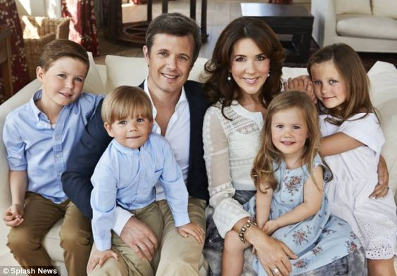 Royal anniversary: Crown Prince Frederik and Crown Princess Mary, pictured with their four...