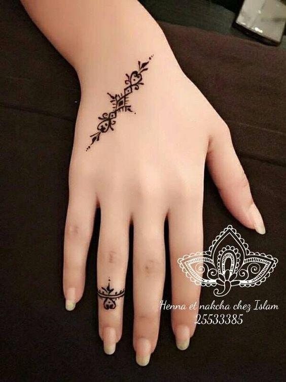 Gambar Henna Yang Gampang