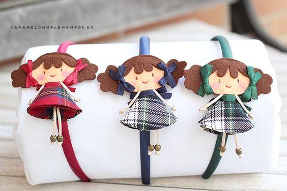 COMPLEMENTOS INFANTILES CARAMEL: DIADEMAS, TOCADOS, CORONAS Y COLETEROS: Diademas Infantiles My Doll Mis Coletas