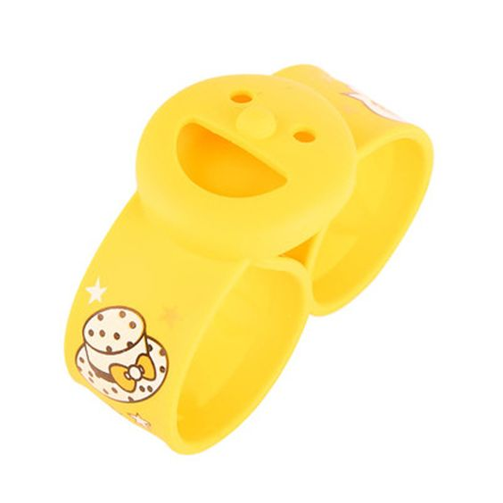 Lovey Smlie Perfect All Natural Mosquito Repellent Bracelets For Kids ( Yellow )