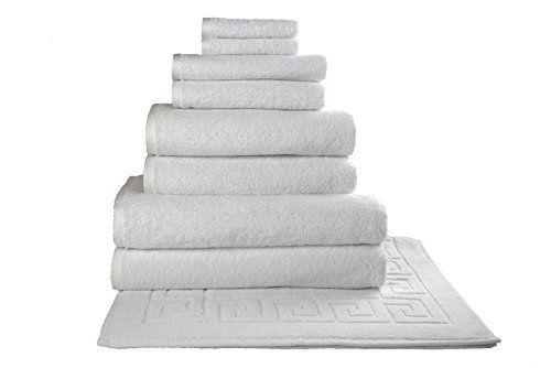 Salbakos Giallo 9 Piece Turkish Hotel Collection Bath Towel Set