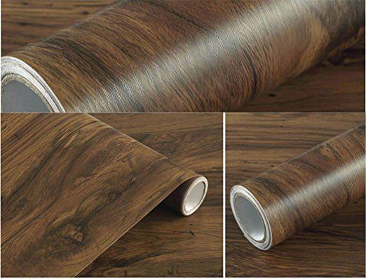 Amazon Com Rustic Dark Wood Grain Contact Paper Self Adhesive
