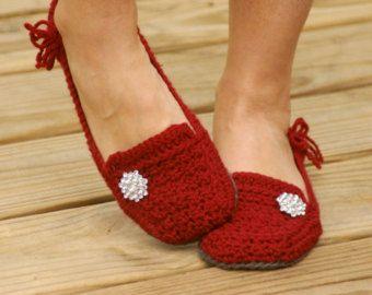 Crochet patrón para Violeta Womens casa por TwoGirlsPatterns