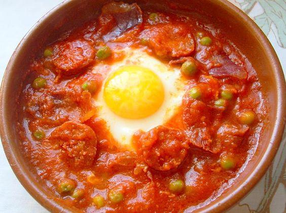 Receta de Huevos a la flamenca de dificultad Fácil para 4