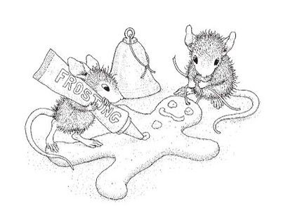 Stampendous - Cling Mounted Rubber Stamp - House Mouse Finishing Touch