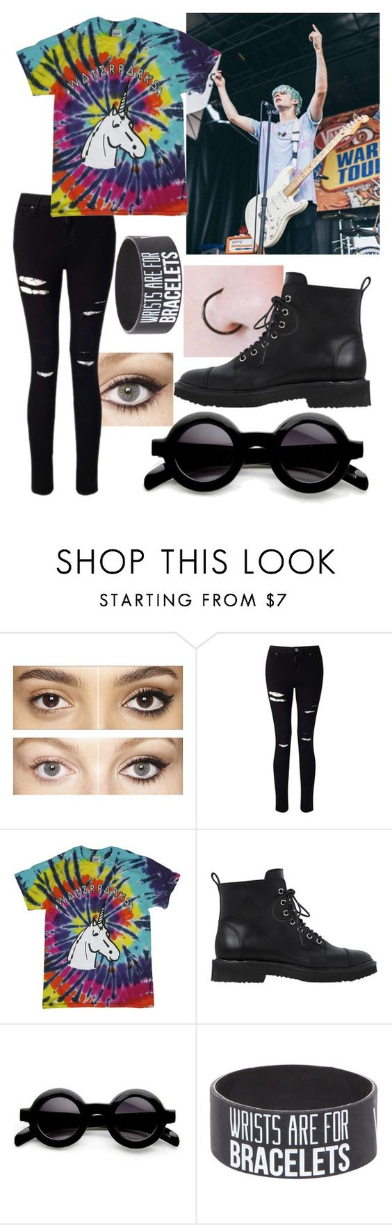 """Seeing Waterparks at Warped"" by jordan-mettam ❤ liked on Polyvore featuring Charlotte Tilbury, Miss Selfridge and Giuseppe Zanotti"