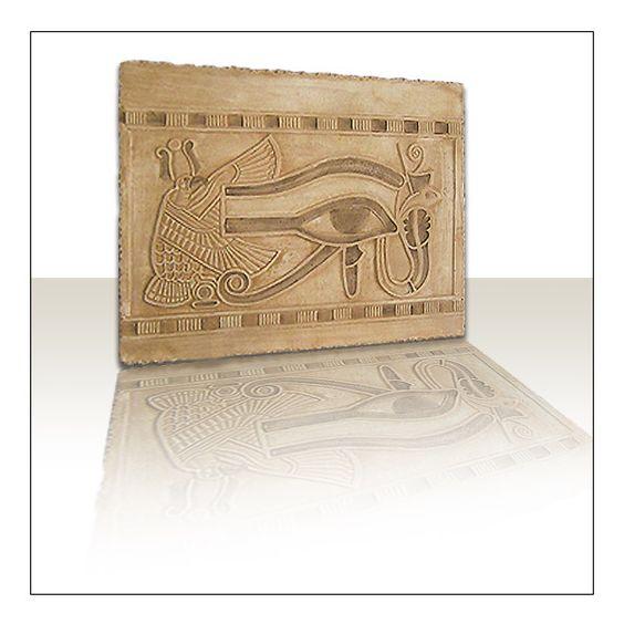 ÄGYPTISCHES RELIEF HORUSAUGE 24 x 31 cm von atelier-zeiss auf DaWanda.com