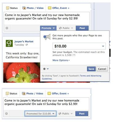 "Don't be fooled by Facebook ""Promote"" option for your fan page"