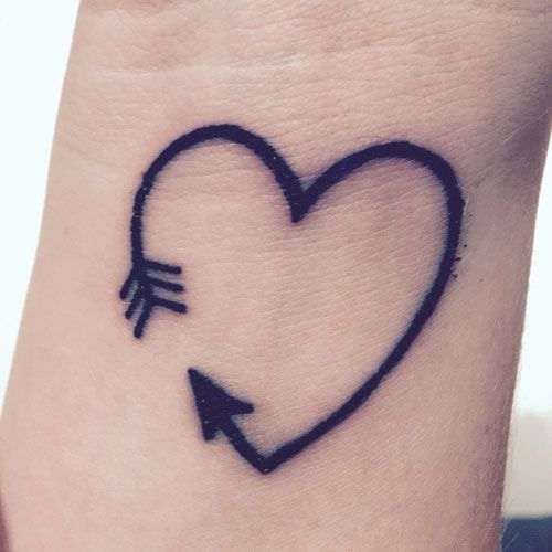 75 Unique Arrow Tattoos Meanings 2020 Guide Arrow Tattoo On Wrist Heart Tattoo Designs Tiny Tattoos For Girls