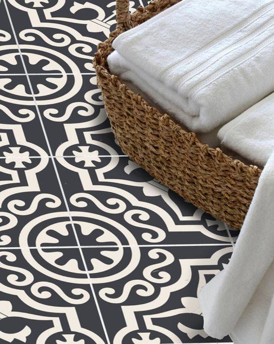 autocollant de tuile pour cuisine salle de bain sol mur. Black Bedroom Furniture Sets. Home Design Ideas