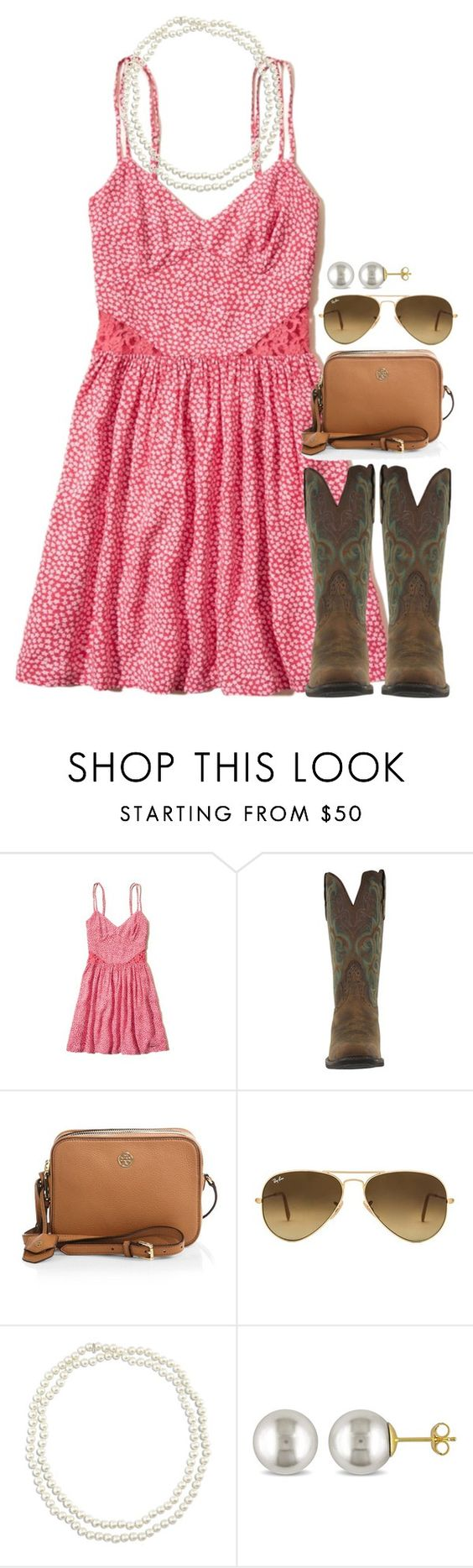 """Follow the sunshine"" by preppy-horsegirl ❤ liked on Polyvore featuring Hollister Co., Tory Burch, Ray-Ban, Chico's and Miadora"