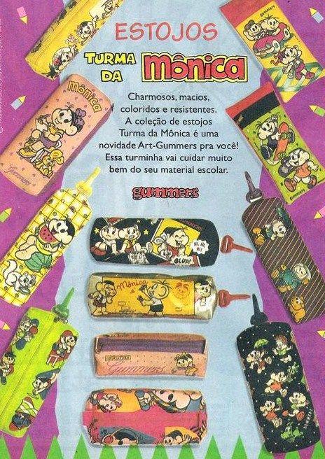 Estojos da Turma da Mônica #nostalgia