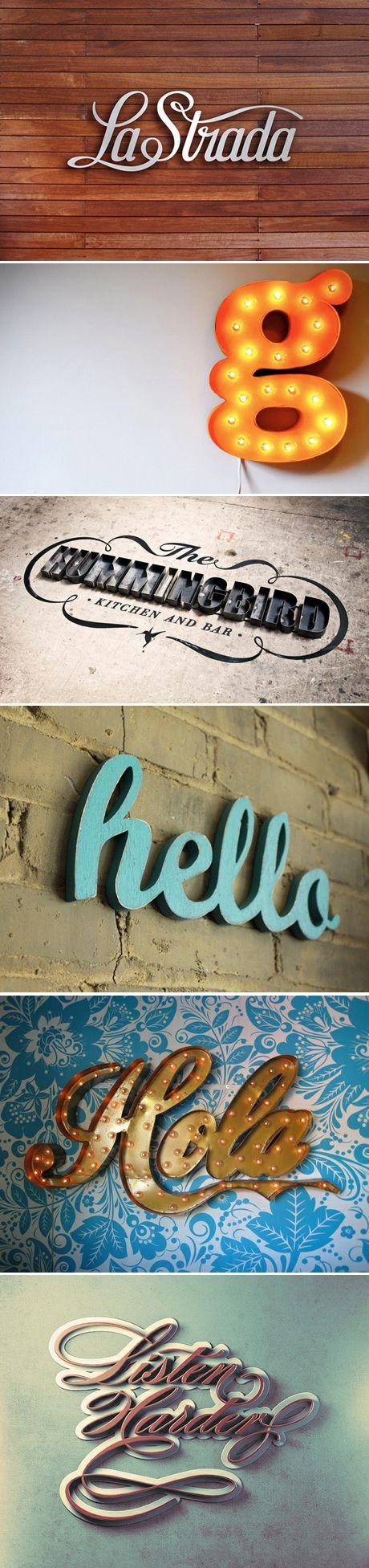 pinterest.com/fra411 #typographic - Some random metal letters
