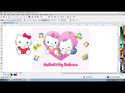 Cara Menggambar Hello Kitty Babies Tutorial Youtube Gambar Hello Kitty Kartun Lucu