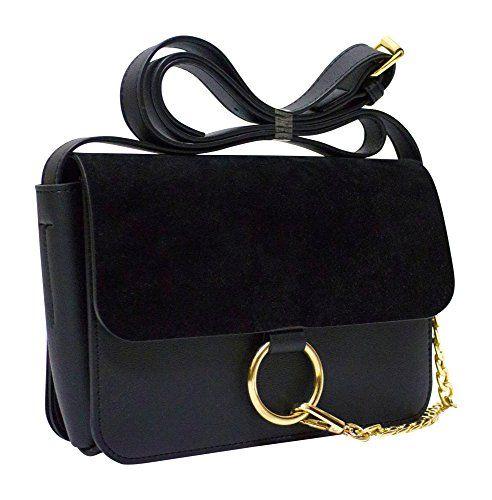 Kronya® | Elegante Umhängetasche aus Leder | Arbeit Büro