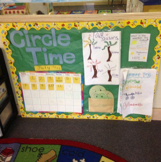 Bulletin Board Ideas Early Childhood: Circle Time Board, Circles And Circle Time On Pinterest