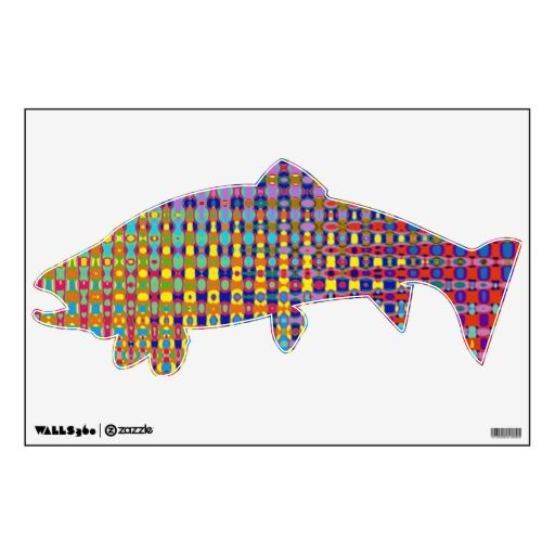 Psychedelia Trout Wall Decal