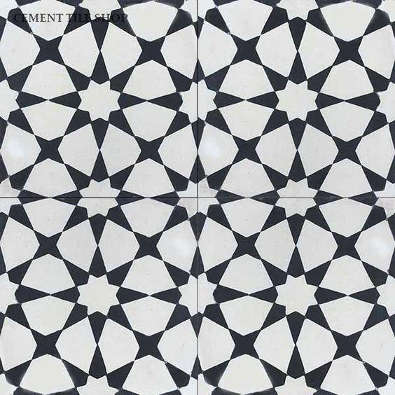 Cement Tile Shop Encaustic Cement Tile Agadir White