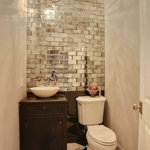 Add A Cabinet To Any Dead Space In Your Kitchen Or Laundry Room For Cleaning Supplies Small Bathroom Windowless Bathroom Powder Room Decor
