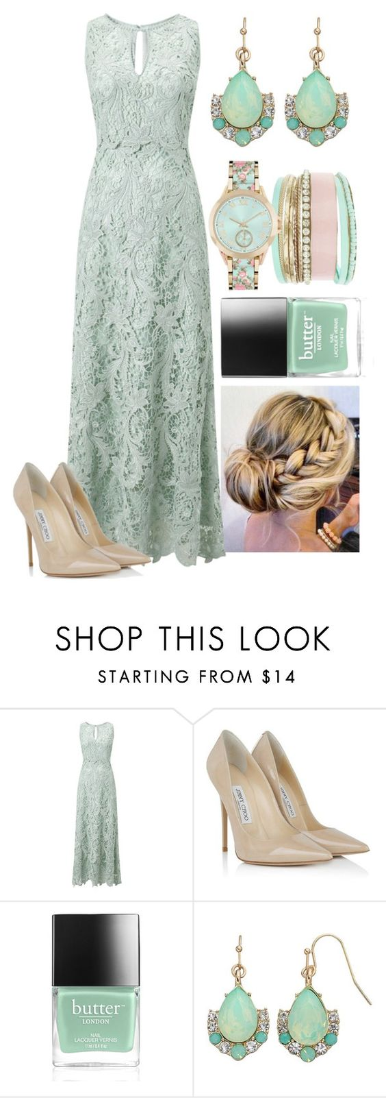 """""""Mint themed"""" by princessserenaadams ❤ liked on Polyvore featuring Phase Eight, Jimmy Choo, Butter London, LC Lauren Conrad and Jessica Carlyle"""