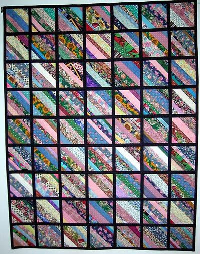 One of my first string quilts. Done as a quilt as you go quilt ... : string quilt patterns - Adamdwight.com