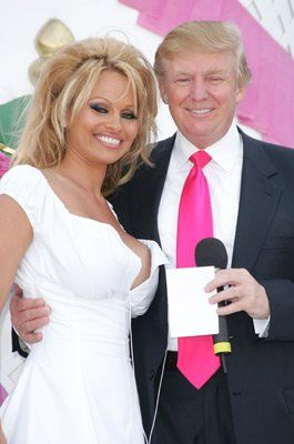 Pamela Anderson and Donald Trump